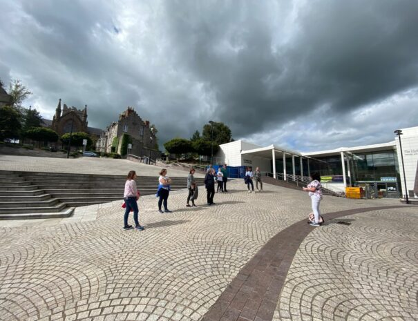 On the Hill of Armagh outside MarketPlace Theatre